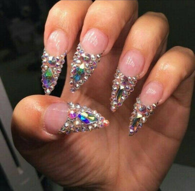 Queen Of Bling French Tip (Rhinestone Accents)