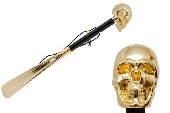 Gold Skull Shoehorn
