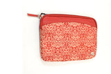 Cambridge Travel Pouch - Red Ikat