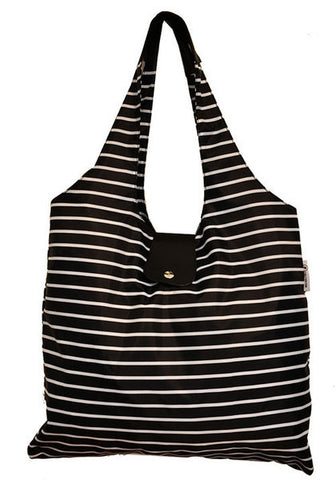 Italia Shopper - Black Stripe