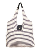 Italia Shopper - Navy Stripe