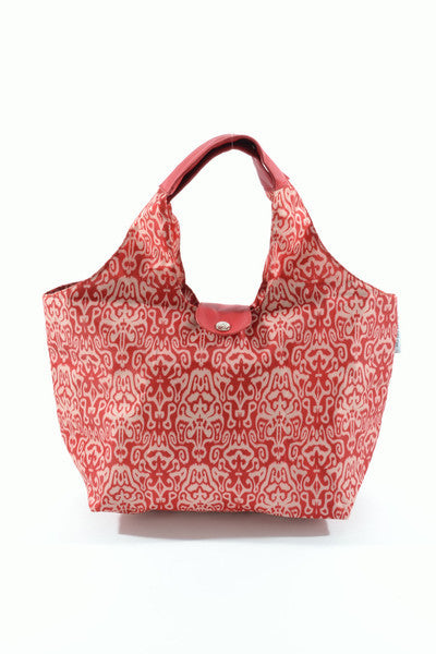 Paris Lunch Tote  - Red Ikat