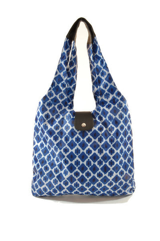 Italia Shopper - Blue Ikat