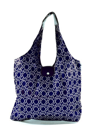 Italia Shopper - Navy Geometries