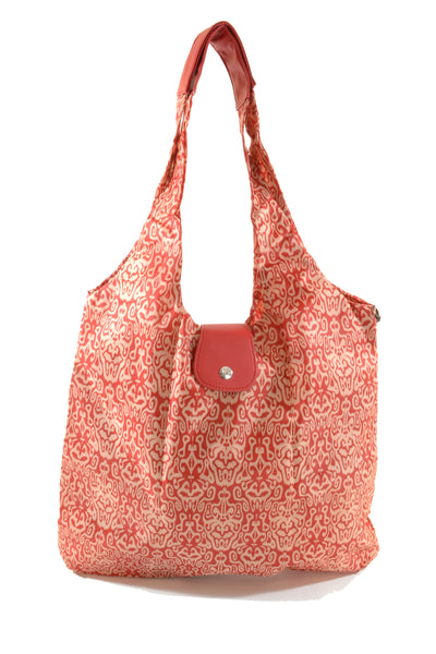 Italia Shopper - Red Ikat