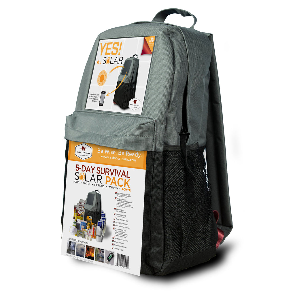 5-Day SOLAR Powered Survival Backpack