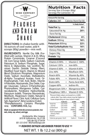 Emergency Meal Replacement Shakes