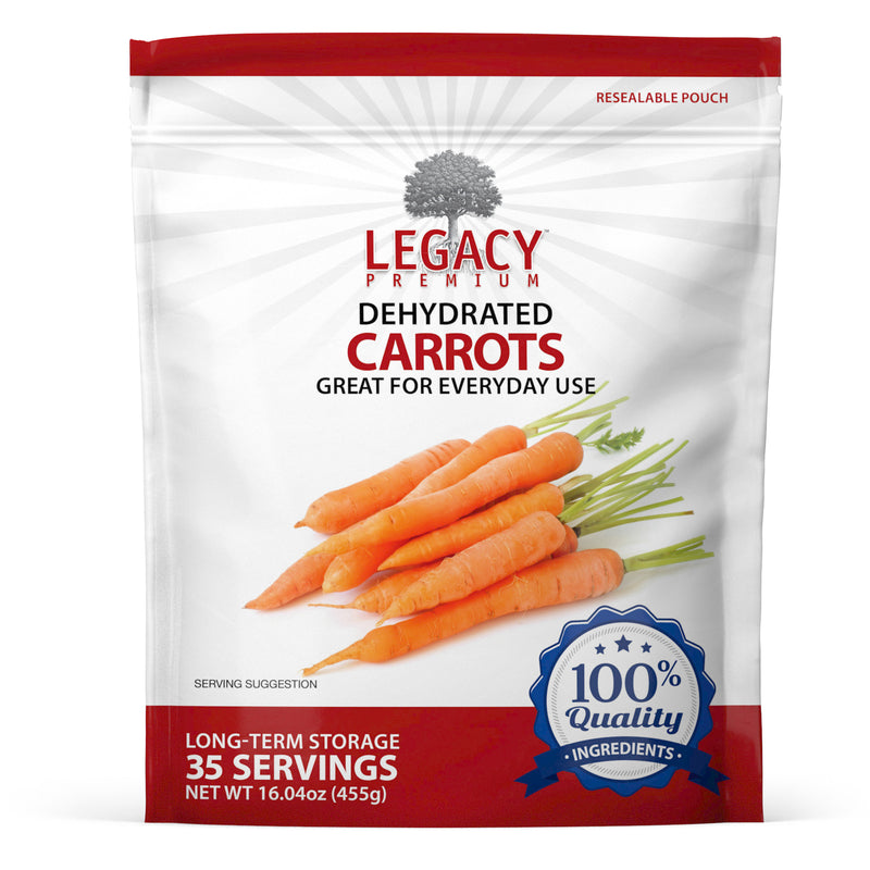 Dehydrated Carrots (35 Servings Pouch)