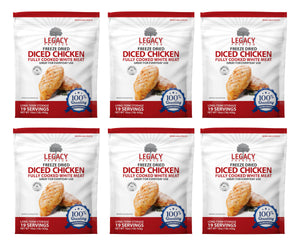 Freeze-Dried Diced Chicken (19 Servings Pouch)