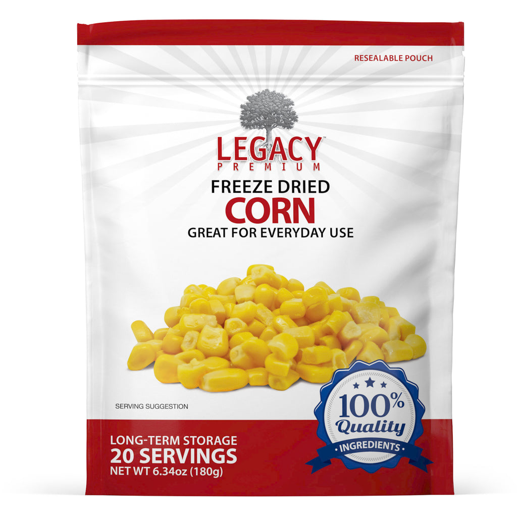 20 Servings Pouch: Freeze-Dried Corn