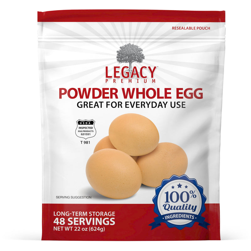 Whole Powder Eggs (48 Servings Pouch)