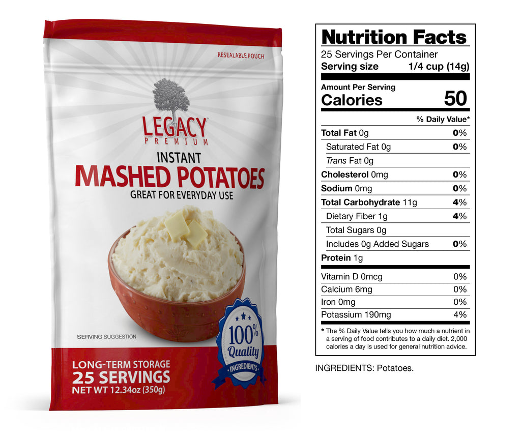 Instant Mashed Potatoes (25 Servings Pouch)