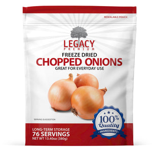 Freeze-Dried Chopped Onions (76 Servings Pouch)
