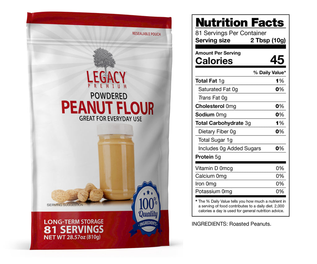 Powdered Peanut Butter (81 Servings Pouch)