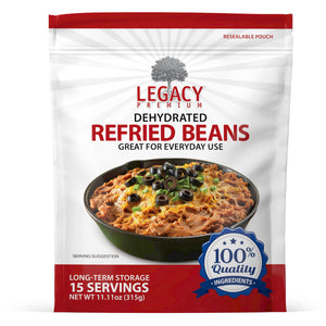15 Serving Pouch: Dehydrated Refried Beans