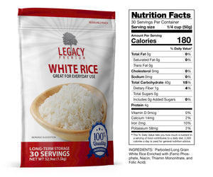 Parboiled White Rice (30 Servings Pouch)