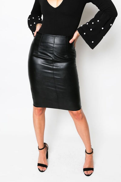 """Sinful"" Leather Skirt"