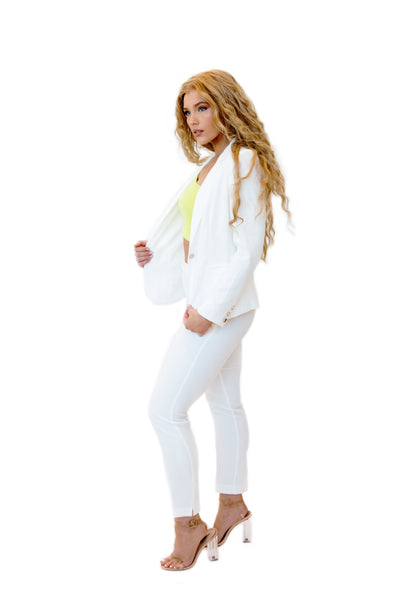 """Boss Babe"" White Suit"