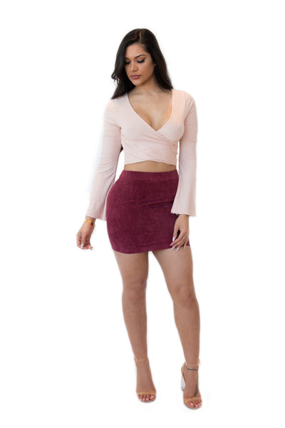 """Sweetheart"" Burgundy Skirt"