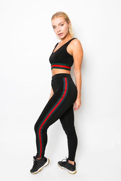 """Rastafari Gal"" Crop Top and Pants Set"