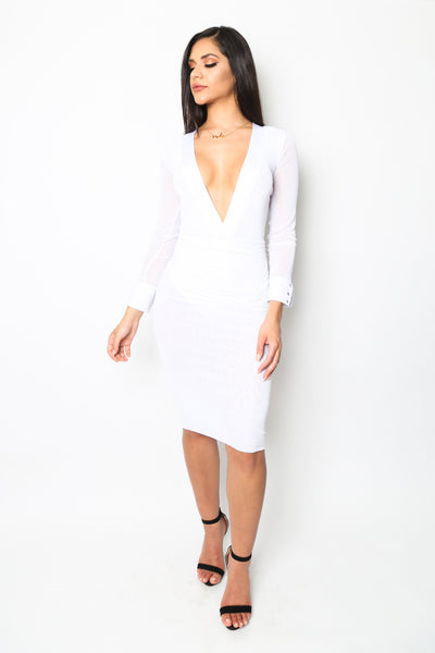 """Miami Heat"" Long Sleeved Mesh Dress"