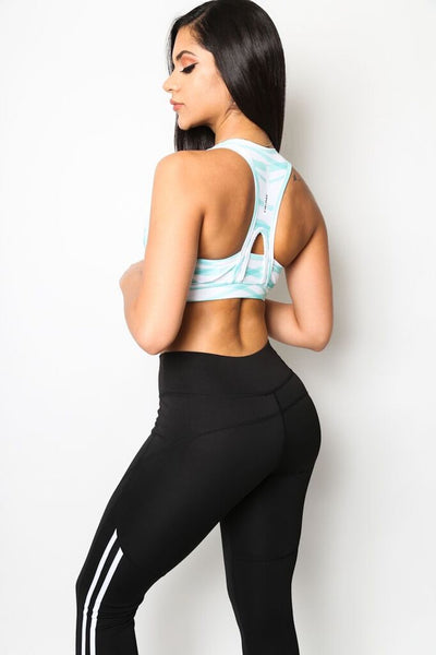 """Running Rivers"" Sports Bra"