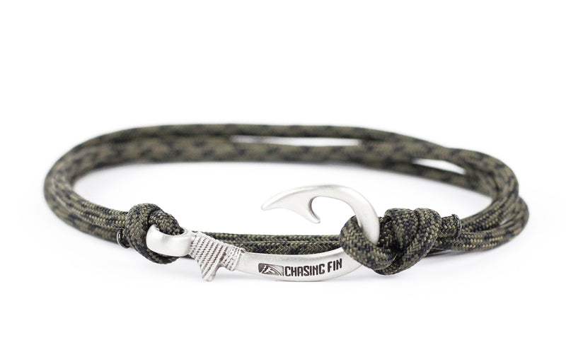 Camo OD & Black Fish Hook Bracelet