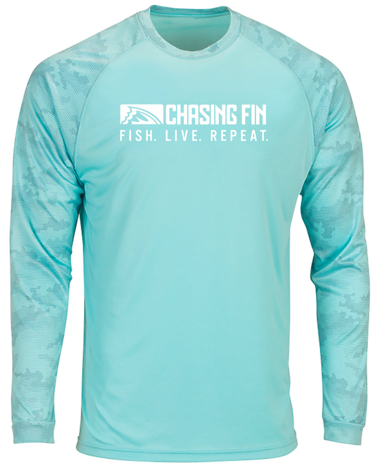 ProFin Camo Performance Shirt (Aqua)