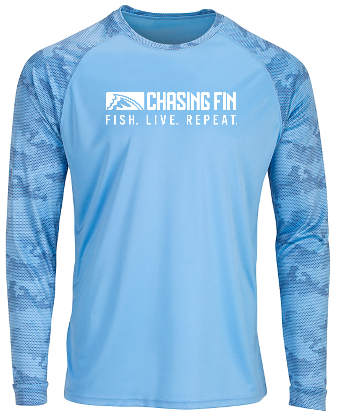 ProFin Camo Performance Shirt (Blue Mist)