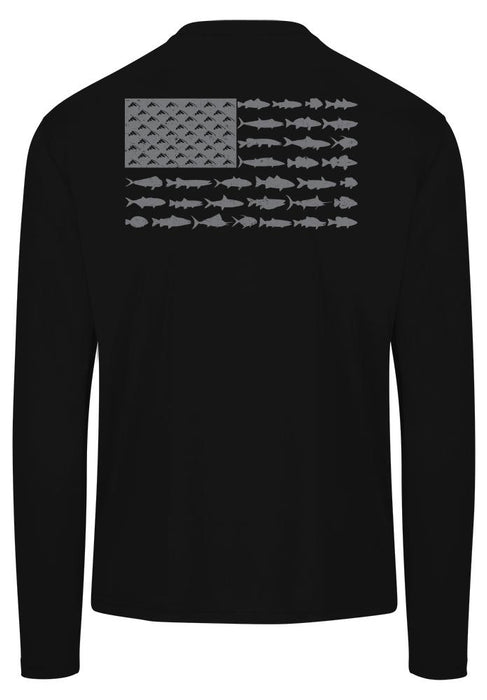 American Fish Flag Performance Shirt (Black)