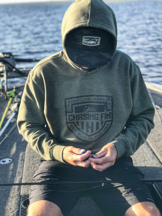Chasing Fin Shield Pullover Hoodie