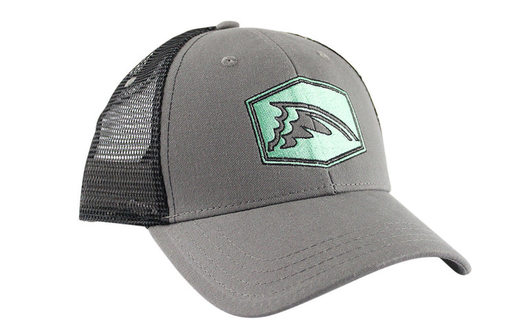 Black & Gray Mesh Trucker Hat