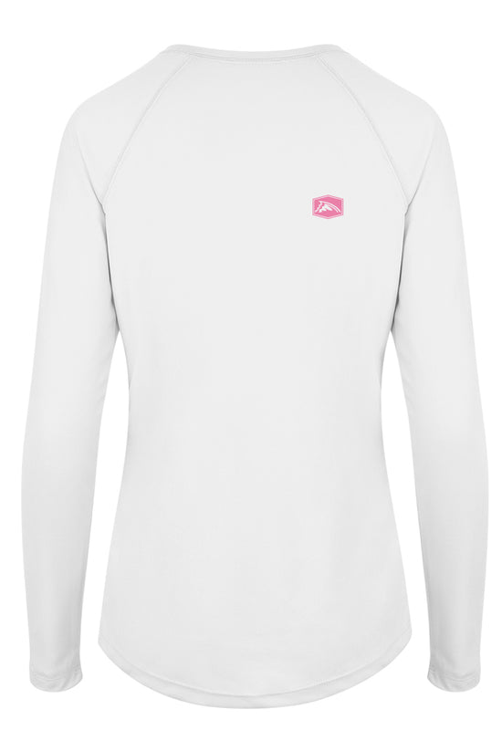 Fish. Live. Repeat. Heart Performance Shirt (White)