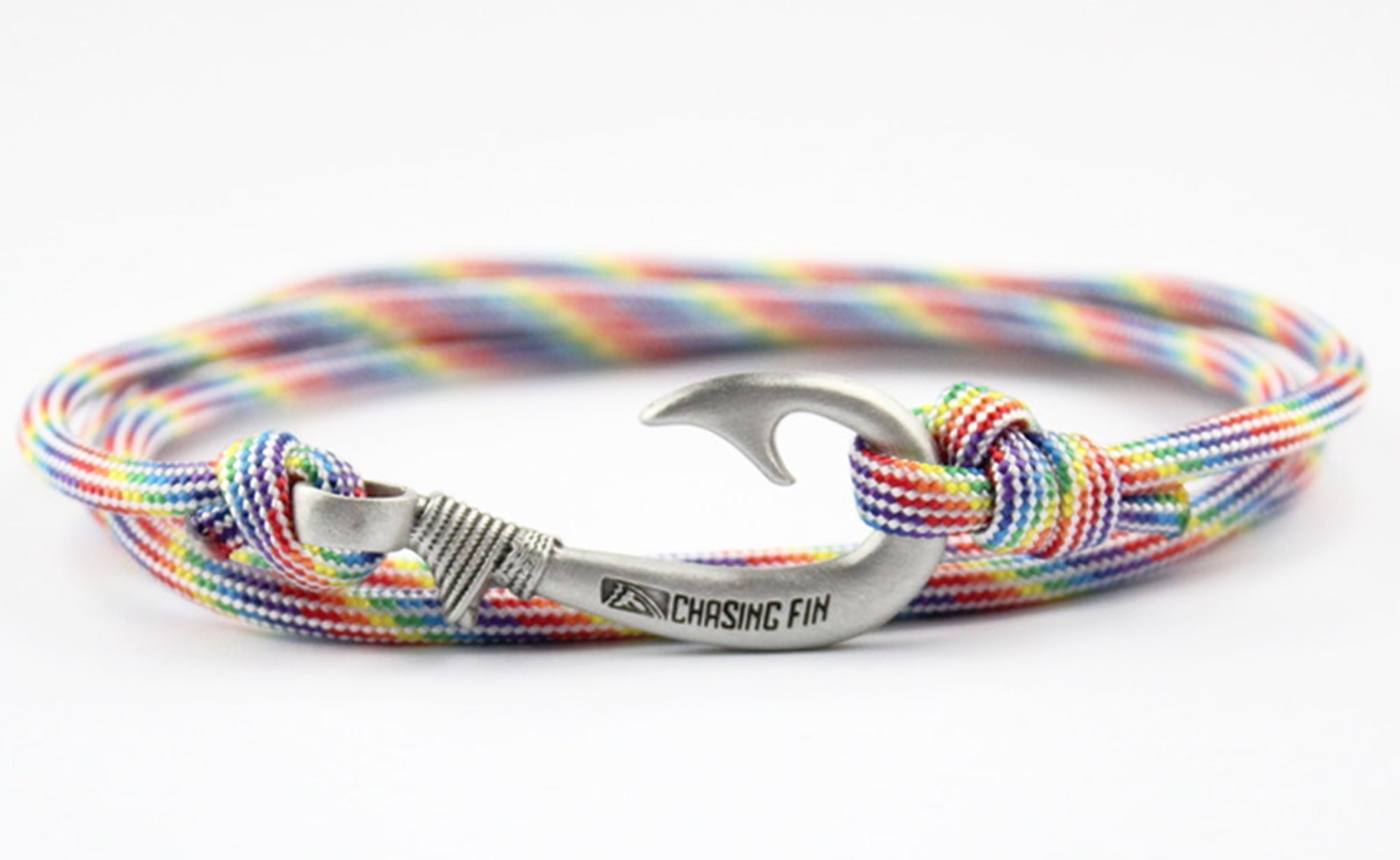 Rainbow Stripes Fish Hook Bracelet