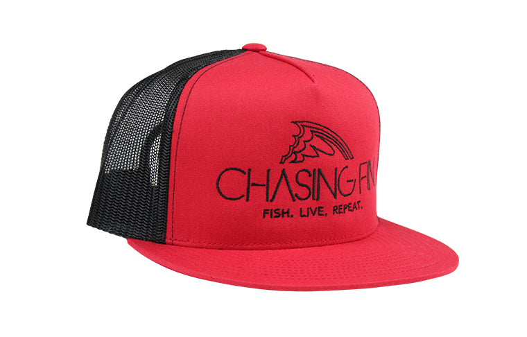Red & Black Flatbill Snapback