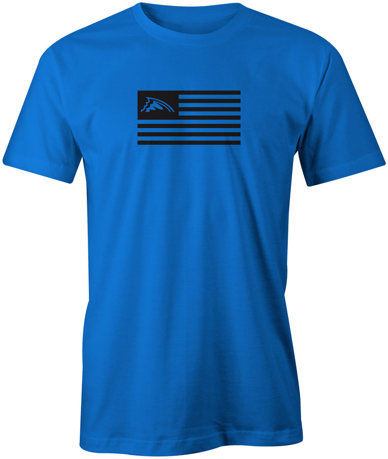 Blackout American Fin Flag T-Shirt