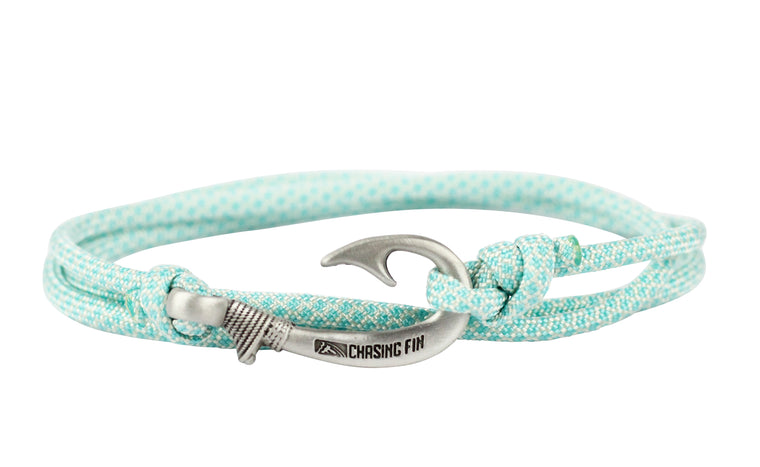 Turquoise Diamonds Fish Hook Bracelet