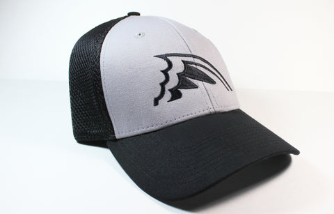 Gray & Black Fitted Hat