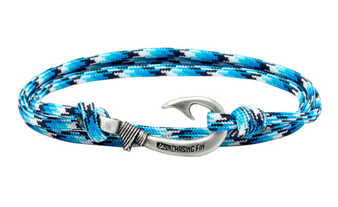 Blue Snake Fish Hook Bracelet