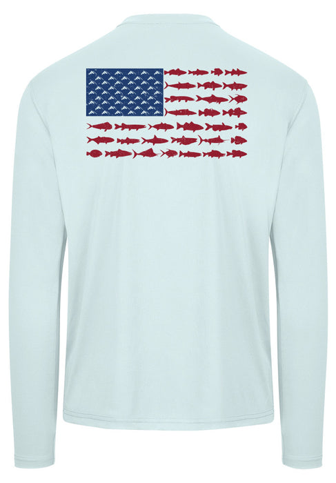 American Fish Flag Performance Shirt (Arctic Blue)