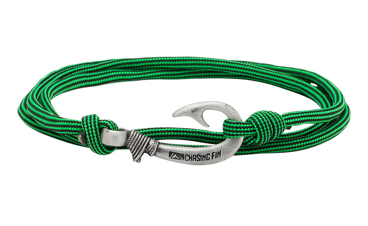 Green Snake Fish Hook Bracelet