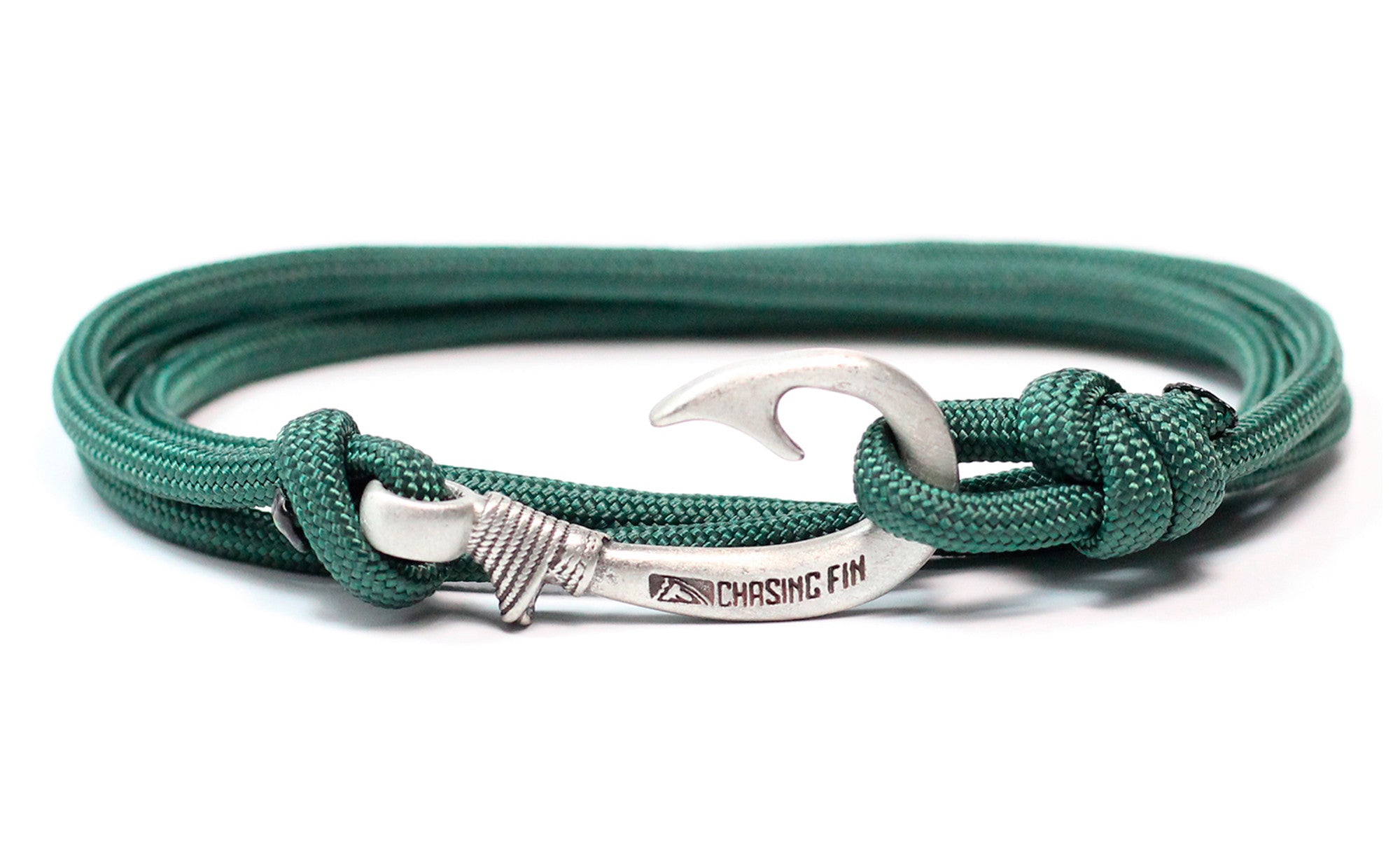 Hunter Green Fish Hook Bracelet