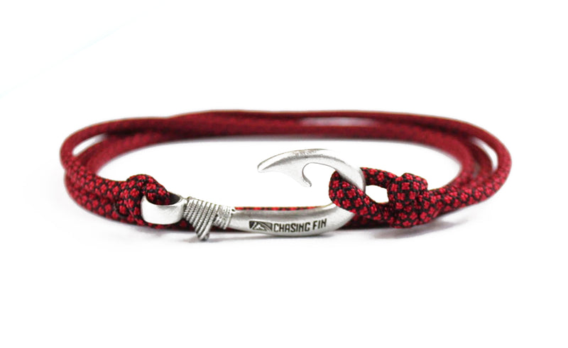 Imperial Red Diamonds Fish Hook Bracelet