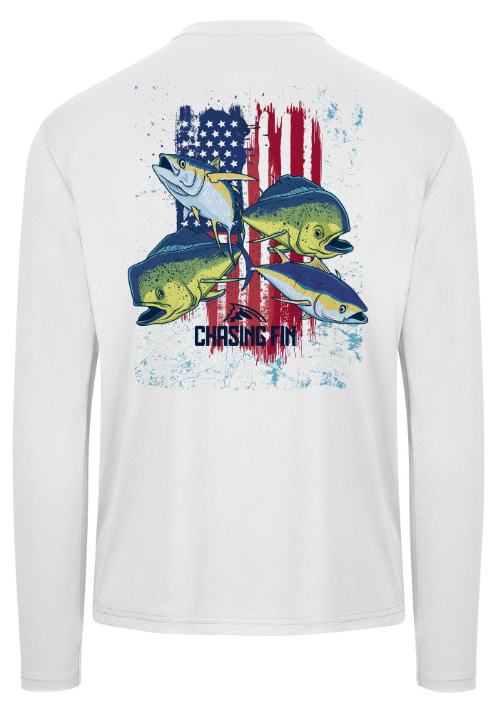 American Tuna & Mahi Frenzy Performance Shirt