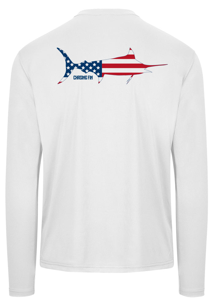 Patriotic Marlin Performance Shirt