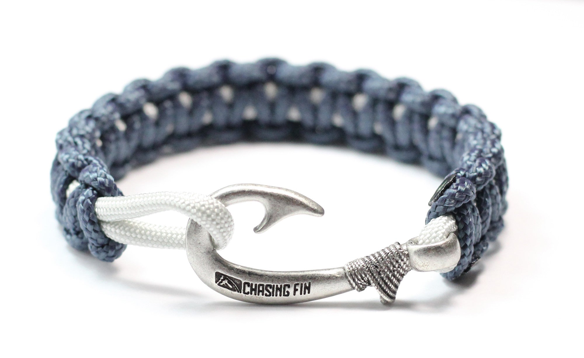 bracelet hook anchor with wrap clasp paracord blue navy