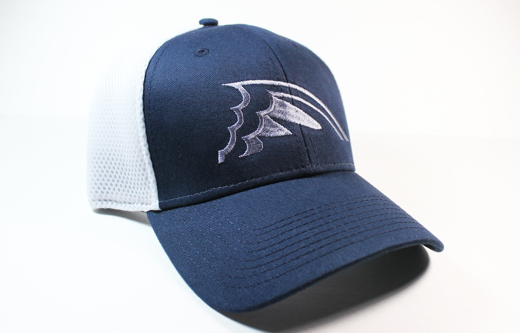 Navy & White Fitted Hat