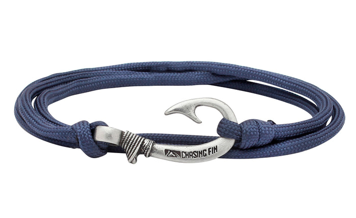 Navy Fish Hook Bracelet