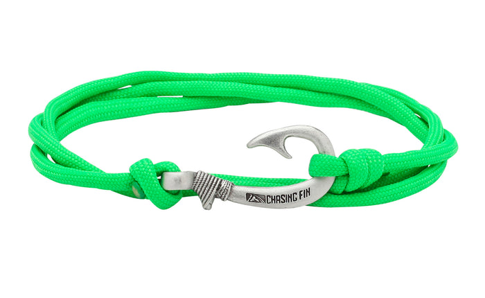 Neon Green Fish Hook Bracelet
