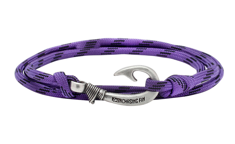 Purple Camo Fish Hook Bracelet